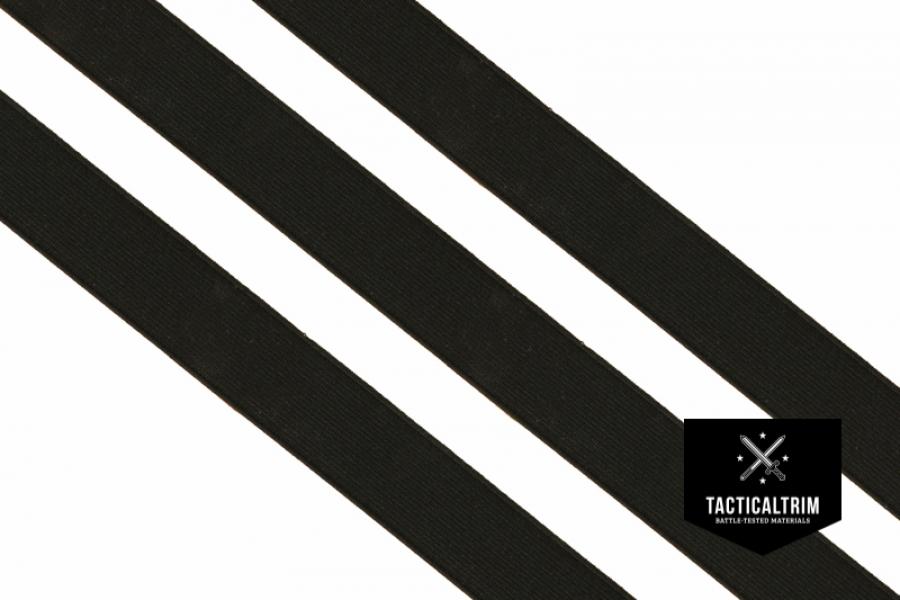 polyester gummiband black 25mm gewebt meterware 2 07. Black Bedroom Furniture Sets. Home Design Ideas