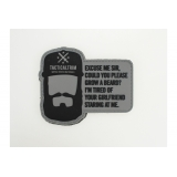 "PVC Patch ""Beard"""