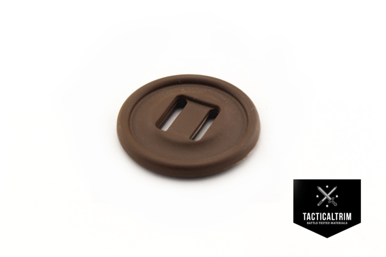 Slotted button 28mm Coyote Brown