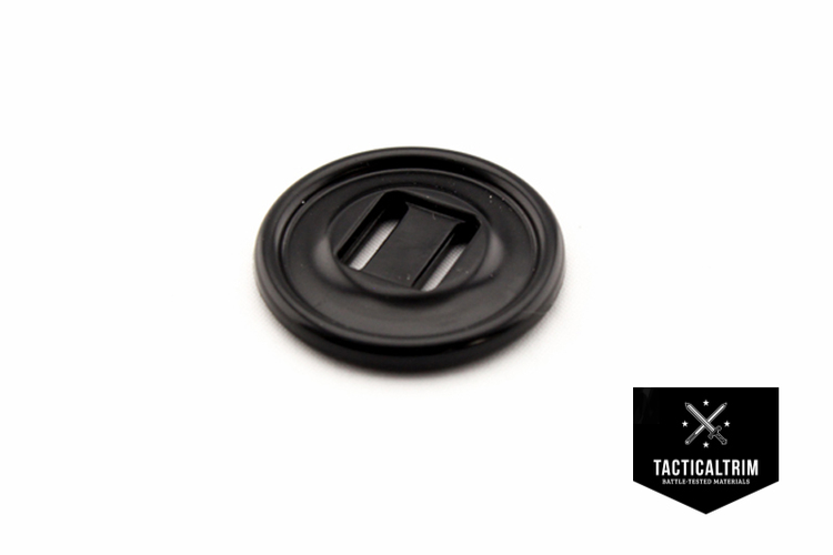 Slotted button 28mm Black