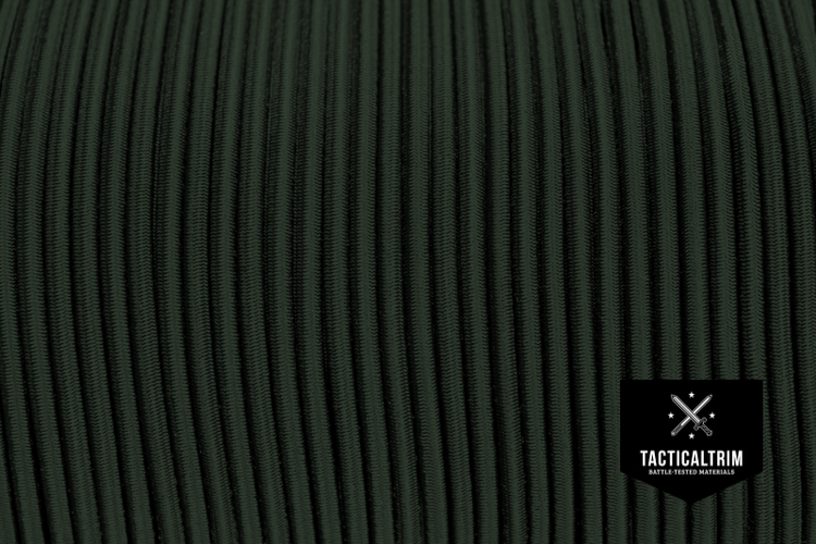 Shock Cord 1/8, in color OLIVE DRAB CUSTOM CUT