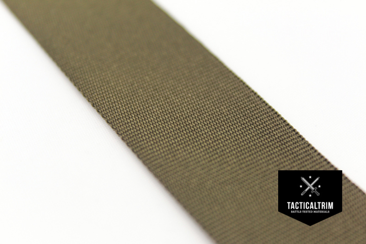 Polyamid Binding Tape Olive Drab 1, woven, CUSTOM CUT