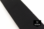 Polyamid Webbing Black 1, woven, CUSTOM CUT
