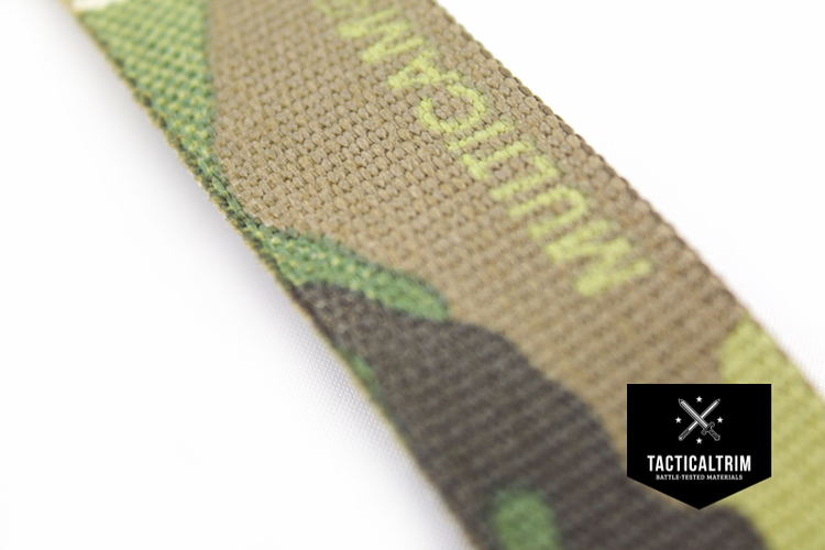 Nylon Webbing Multicam Original 2, Double-Side Printed, CUSTOM CUT