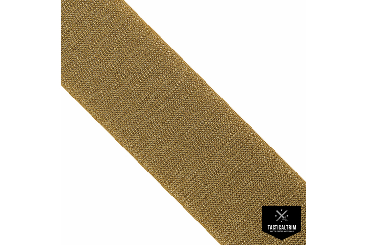 VELCRO® Hook, Coyote Brown 498, 4 (100mm), CUSTOM CUT