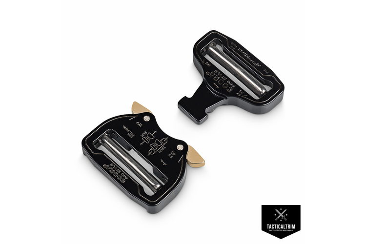 FY45KVV-XL AustriAlpin Cobra Buckle 45mm Black dual adjustable, XL clips