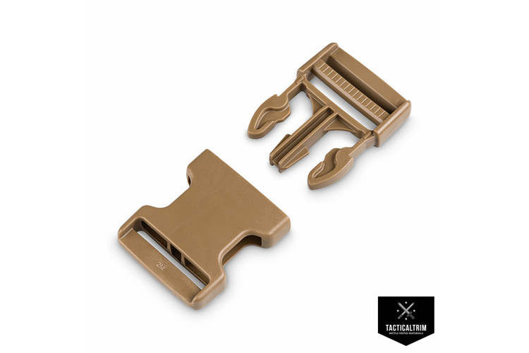 Side-Release Buckle 2M Warrior-Series 40mm (1.5) Coyote Brown