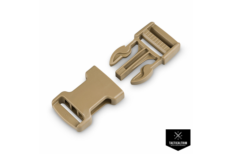 WB25 Side-Release Buckle 2M Warrior-Series 25mm Tan 499