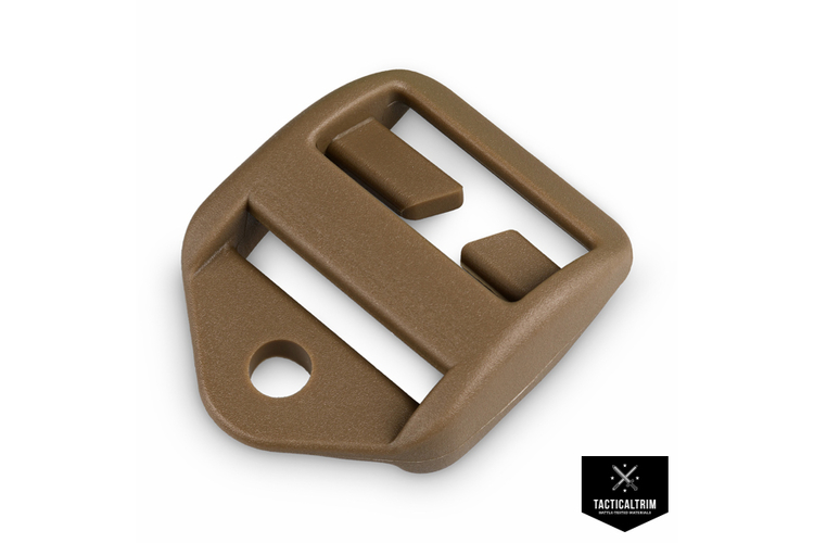 Ladder Lock Split-Bar with Cord-Hole 2M LS-Series 25mm (1.00) Coyote Brown