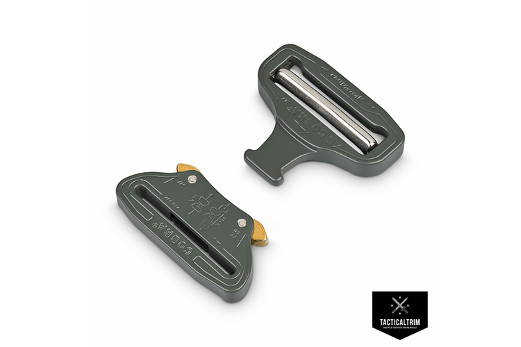 FC50FVF-POWD AustriAlpin Cobra Buckle male adjustable 50mm  Foliage Green Powder Coated Standard Clips
