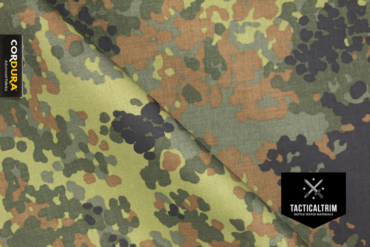 5 color Flecktarn / RAL7013 PALSTEX® INVISTA CORDURA® Laminate custom cut
